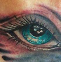 oog tattoo met erg veel details by Dutchink
