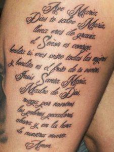 tattoo spaanse tekst