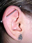 Industrial helixpiercing