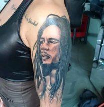 Bob Marley op bovenarm