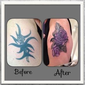 cover-up-tattoo-tribal-naar-bloemen