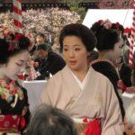 Geisha tijdens een formele gelegenheid