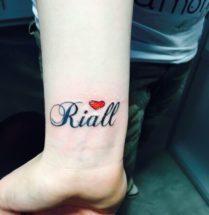 Naam tattoo op pols