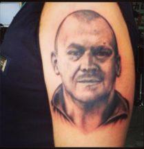 Portret op arm