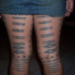Samoan Malu tattoo op boven benen