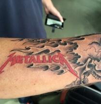 Metallica skull and flames