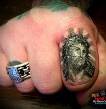 Jezus op vinger