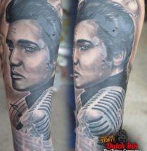 Portret Elvis op onderarm