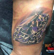 Diamant op bovenarm
