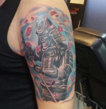 Samurai op bovenarm