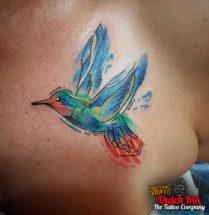 Vogel op borst