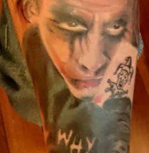 The Joker op onderrm